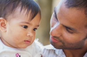 Nishan and his first daughter Jemma